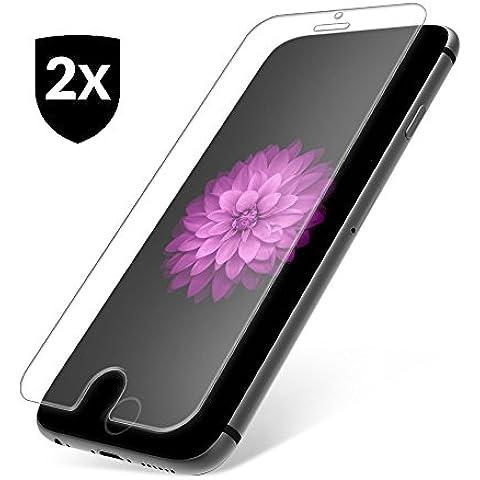 2x Pellicola in Vetro Temperato 9H per iPhone 7 ✔ Antigraffio & Anti Urto ✔ Senza bolle d'aria ✔ Formato preciso ✔ Pellicola protettiva UTECTION® Trasparente - 02 Specchio