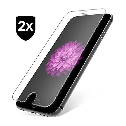 2x iPhone 7 Protecteur d'écran en verre tempré 9H ✔