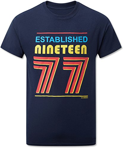 Established Nineteen 77 (1977) T-Shirt Mens Navy Blue