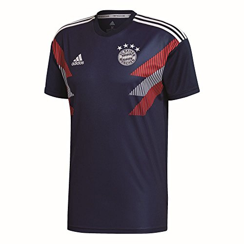 adidas Herren FC Bayern Pre-Match Trikot, Collegiate Navy/White, L