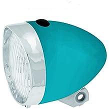 Luz Foco Frontal de 3 Led con Pilas incluidas para Bicicleta Retro Clasico Azul 3466