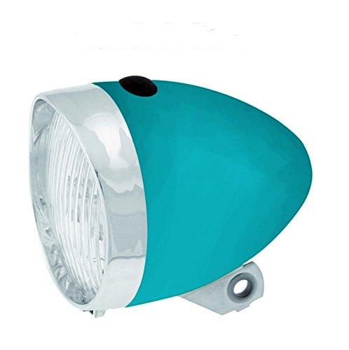 Licht Spot 3LED mit Batterien Fahrrad Front Klassische Retro Blau 3466 (Pilot-licht-schalter)