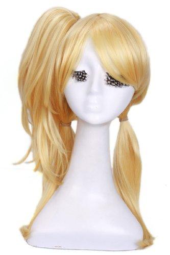 Nuoqi Japan Anime Damen lange Blonde peruecke Cosplay (Für Menschen Kostüme Halloween Berühmte)