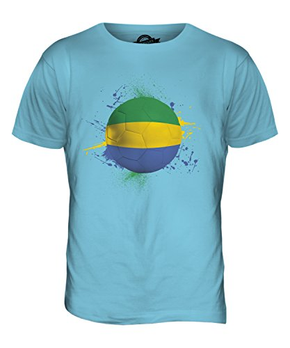 CandyMix Gabun Fußball Herren T Shirt Himmelblau