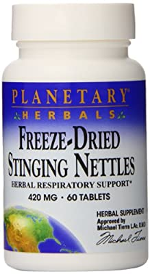 Planetary Herbals Freeze Dried Stinging Nettles, 60 Tabs from Planetary Herbals
