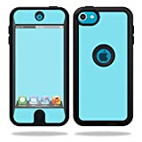 Mightyskins Protective Vinyl Skin Decal Cover for OtterBox Defender Apple iPod Touch 5G 5th Generation Case wrap Sticker Skins Solid Baby Blue