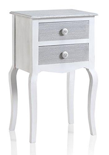 GEESE 7687 - Mesita de madera con 2 cajones, 32 x 40...