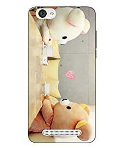 Case Cover Teddy Bear Printed Multicolor Soft Back Cover For LYF WIND 6