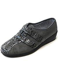 DAVEMA 74107 Grigio Pantofole Donna Ciabatta Chiusa con Cinturino Made in  Italy 35 EU 869dca8347e