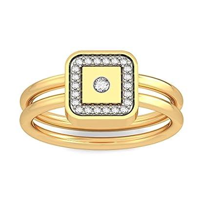 BlueStone 18k (750) Yellow Gold and Diamond Divine Bond Ring