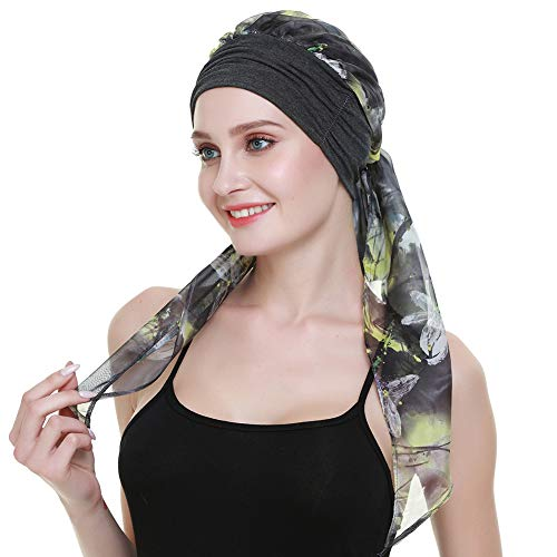 FocusCare weiche Frauen Kopftuch Chemo Headcover schlafen hüte turbane hairwrap für Krebs - Headcover Turban