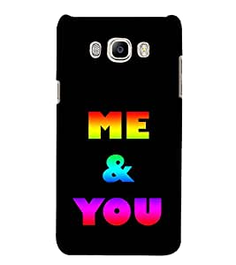 Colourful Me & You 3D Hard Polycarbonate Designer Back Case Cover for Samsung Galaxy J5 2016 :: Samsung Galaxy J5 2016 J510F :: Samsung Galaxy J5 2016 J510FN J510G J510Y J510M :: Samsung Galaxy J5 Duos 2016