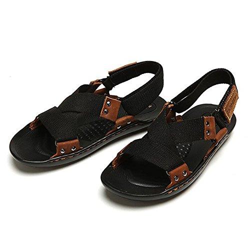 ZJM- Mann Camping Sandale Strand Schuhe gewebt Gürtel Sommer Slipper Outdoor einfach (Farbe : Schwarz, größe : 42) - Armee Müdigkeit Hose