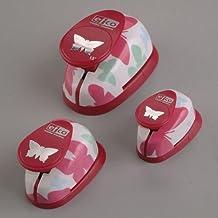 Efco–Perforadora de juego, diseño de mariposas, color rosa