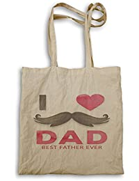 Amo a papá el mejor padre de todos los tiempos bolso de mano o20r