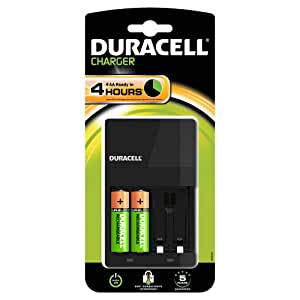 duracell 4 hour aa aaa battery charger with 2 x aa. Black Bedroom Furniture Sets. Home Design Ideas
