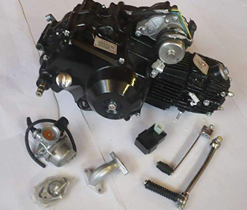 HMParts 4-Gang Motor Set 110ccm halbautom. E-Start Oben & Kickst. Pit Bike Monkey