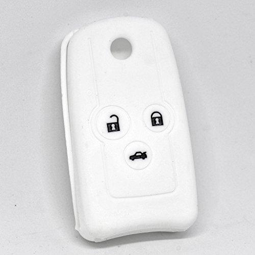 Soft Case Schutz Hülle Auto Schlüssel Weiß für Honda Accord Jazz Civic CR-V (Remote-key Für Honda Accord)