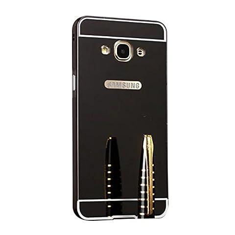 HUANGTAOLI Housse de protection effet Miroir pour Samsung Galaxy Grand Prime VE G531