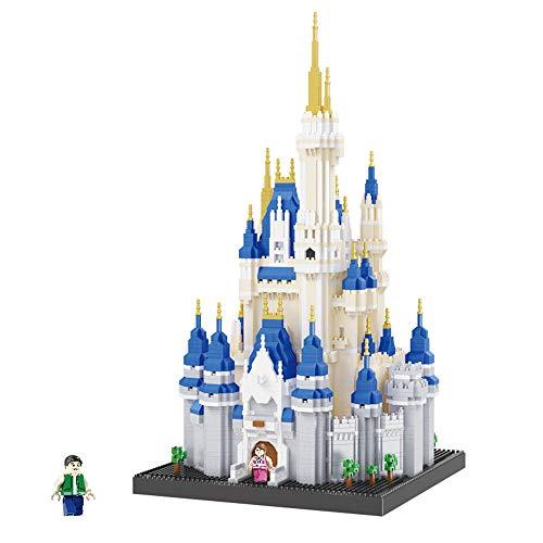 Célèbre Architecture Royale Royale Grand Château Modèle Micro Diamant Mini Bricolage Bâtiment Nano Blocs 3D Assemblée Jouet Cadeau