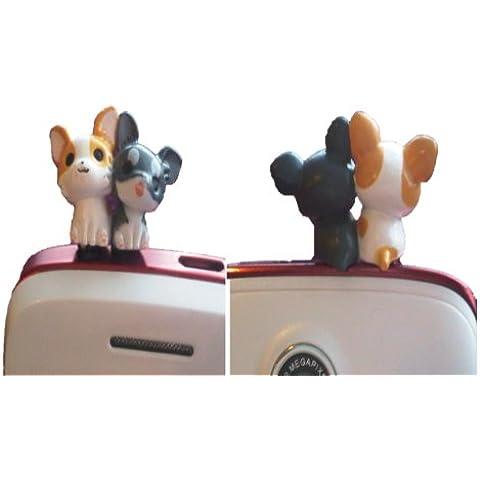Chihuahua, motivo: barboncini di cucciolo di cane, tappo antipolvere 3,5 mm jack universale adatta alla maggior parte dei