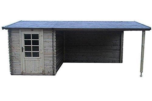 Fonteyn Gartenhaus/Blockhütte Petra Satteldach 580x300 cm Hochdruck imprägniert