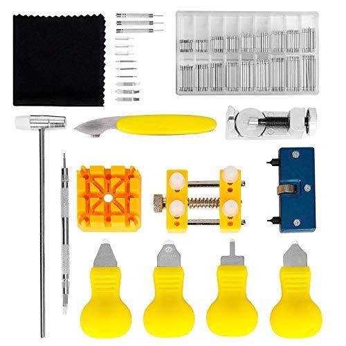 Watch Battery Replacement Tool Kit für Watch Back Remover Öffner und Uhrmacher 384 Pc Clock Tool Musikinstrumente & DJ