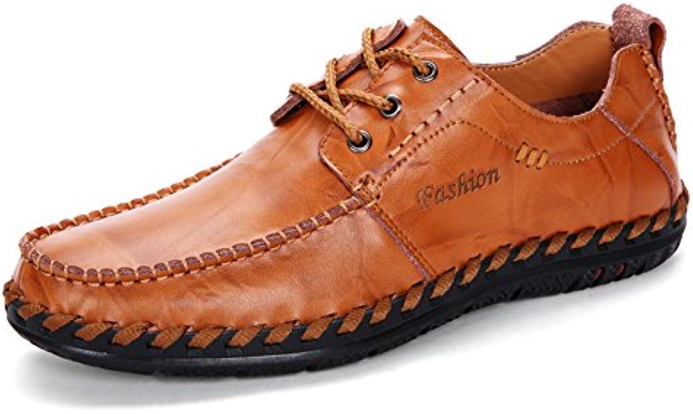 Harvestar - Mocasines de Piel para hombre, color marrón, talla 41