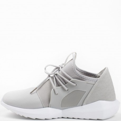 Ideal Shoes - Baskets style running bi-matière Anella Gris