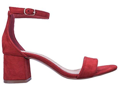 Maxmuxun Square Chaussures À Talons Bas Avec Lacets Et Boucles Pour Femmes Classic Red