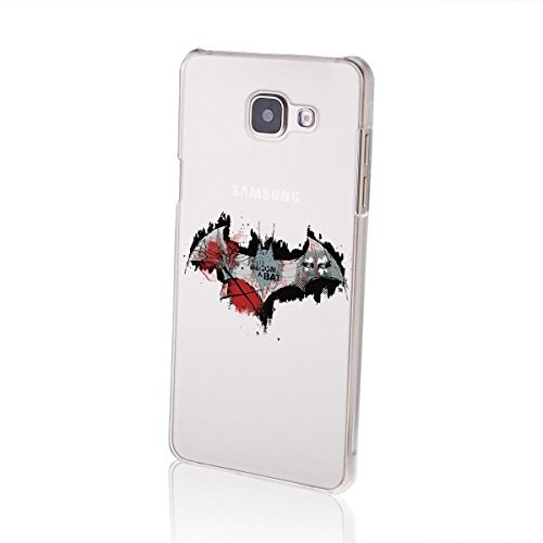 """finoo   Samsung Galaxy A5 2016 Hard Case Handy-Hülle """"Batman"""" Motiv   dünne stoßfeste Schutz-Cover Tasche mit lizensiertem Muster   Premium Case für Dein Iphone  Batman Logo black middle Logo become bat"""