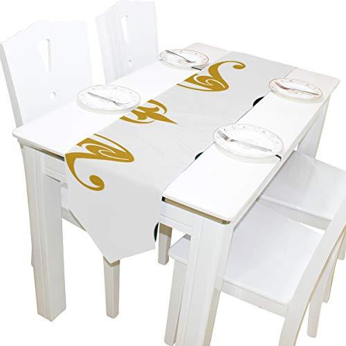 Atemberaubende Modell Kommode Schal Tuch Abdeckung Tischläufer Tischdecke Tischset Küche Esszimmer Wohnzimmer Home Hochzeitsbankett Decor Indoor 13x90 Zoll ()