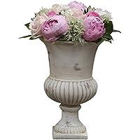 Grande Vasque Style Medicis Ancien Vase Interieur Jardiniere en Terre Cuite 21,50x21,50x31,50cm