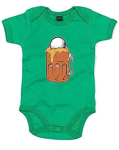 Beer Golf, Imprimé bébé grandir - Vert/Transfert 12-18 Mois