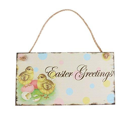 Rosenice decorazioni pasquali da appendere targa da parete in legno vintage easter greetings