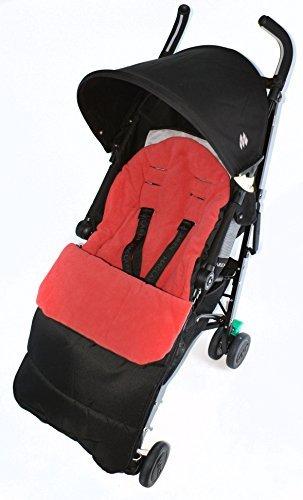 Saco/Cosy Toes Compatible con Maclaren Globetrotter carrito, color rojo