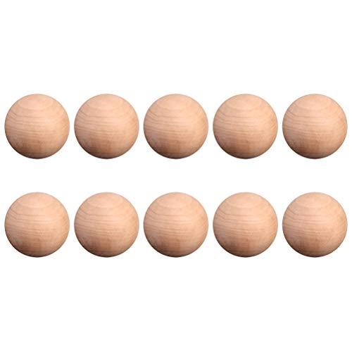 3 STÜCKE Holz Ball Runde Form Natürliche Unfinished Holz Runde Handwerk Ball Geschliffen Glatt Massivholzkugeln -