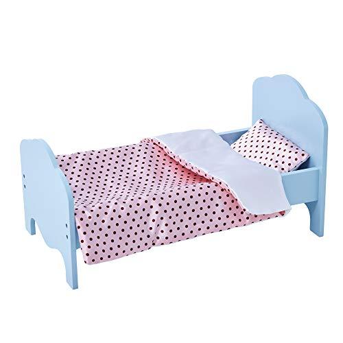 Olivia's Little World TD-11929-1K Puppenbett, Blau