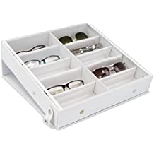 e03954ea63 Caja de gafas para almacenar 10 vasos - Blanco aprox 32 x 32 x 6 cm
