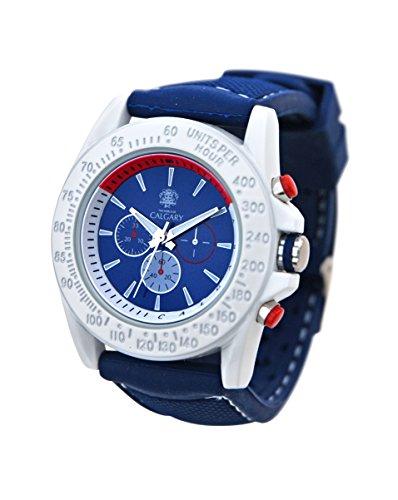 Relojes Calgary San Marine Montre de sport pour femme avec bracelet en silicone violet et cadran Blanc