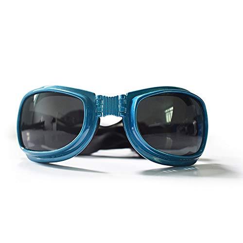 Clluzu Katze Sonnenbrille Haustier Schmuck Schutzbrille Faltbare für Kleine Hunde Kopfumfang 10,14 * 19,5