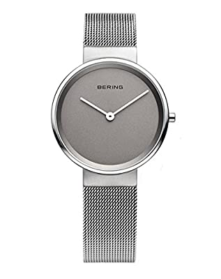 Bering Time - Reloj Analógico de Cuarzo para Mujer, correa de Acero inoxidable color Plateado de Bering Time