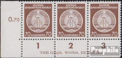 Prophila Collection DDR DA27DV mit Druckvermerk 1954 Dienstmarke (Briefmarken für Sammler)