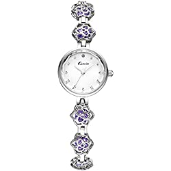 diamond watch/ simple flower watches/Fashion personality Bracelet Watch-purple