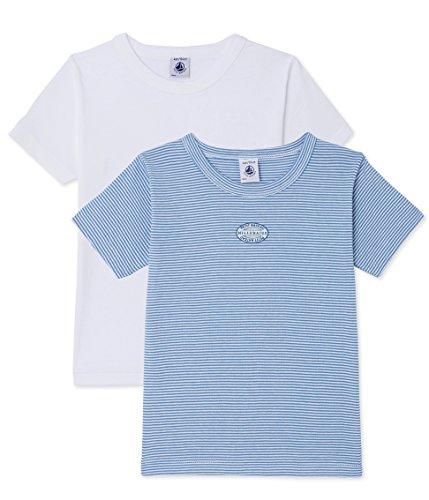 Petit Bateau Jungen Unterhemd Lot 2P T Shirtmc 2428200, 2er Pack, Mehrfarbig (Special Lot 00 00), 128 (Herstellergröße: 8ans/128cm) (Unterhemd Petit Bateau)