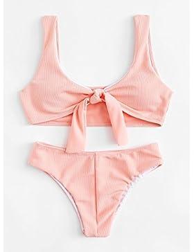 TIANLU Bikini Sexy conjuntos bañador de adelgazamiento trajes de baño moda moda verano bañador, el color de la...
