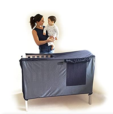 SnoozeShade for Cots - breathable blackout cover and canopy for cots & travel cots (that use a 120cm x 60cm mattress)