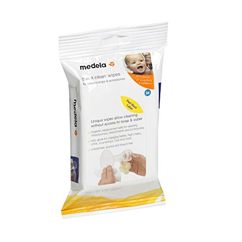 Medela Quick Clean Breastpump & Accessory Wipes - 24 ct