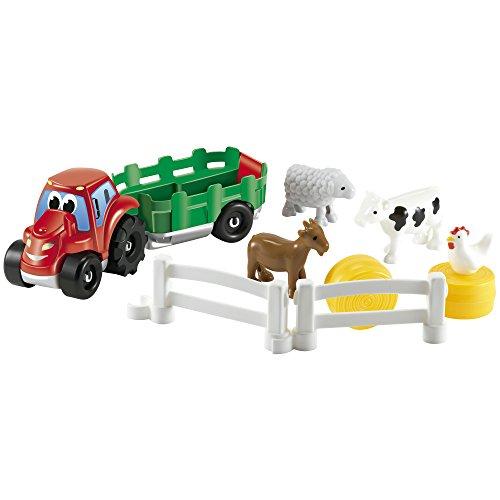 Abrick Tractor con remolque y animales de granja (Smoby 3255)