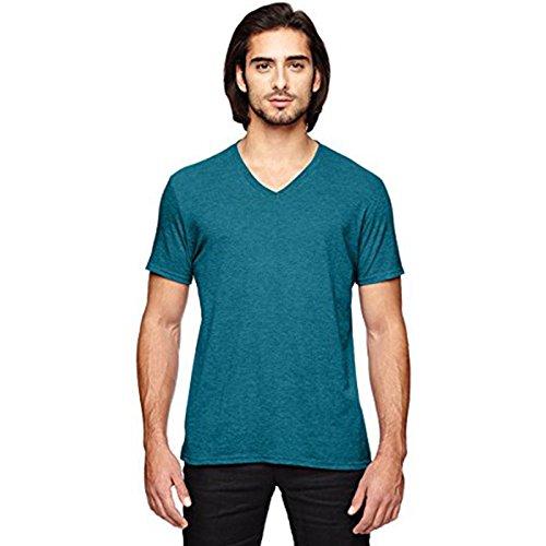 Anvil Herren Modern T-Shirt Heather Galapagos Blue